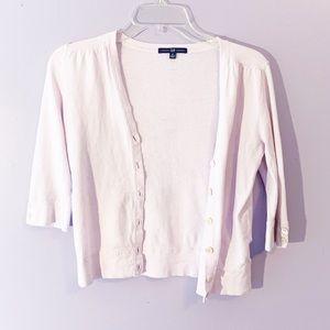 GAP | Blush Pink Quarter Sleeve Crop Cardigan